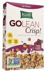 Kashi GoLean Crisp! Multigrain Cluster Cereal Toasted Berry Crumble(14 oz )