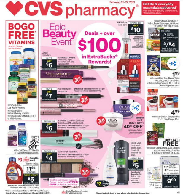 CVS Weekly Ad (2/21/21 - 2/27/21) Preview