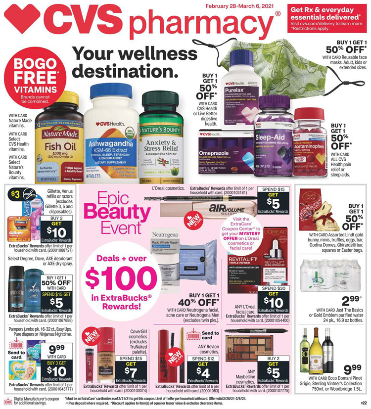 CVS Weekly Ad (2/28/21 - 3/6/21) Preview
