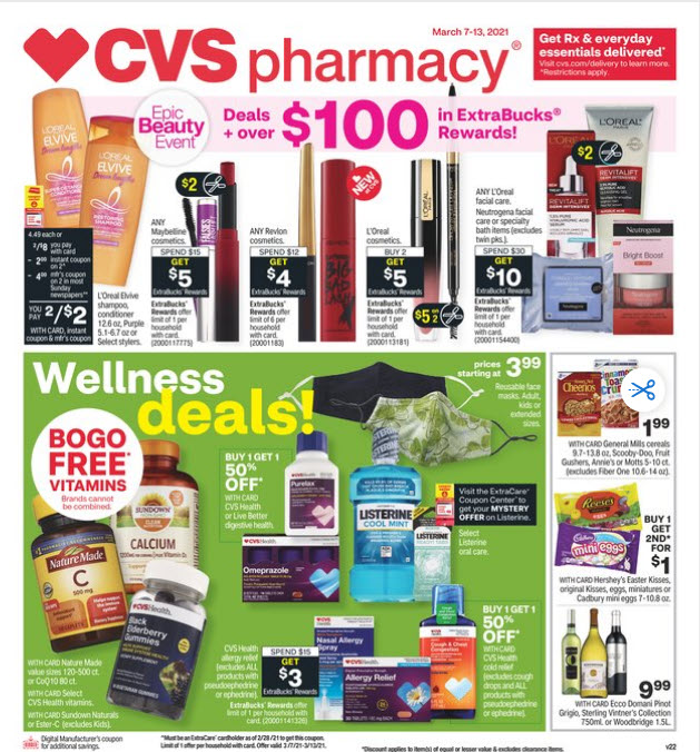 CVS Weekly Ad (3/7/21 - 3/13/21) Preview