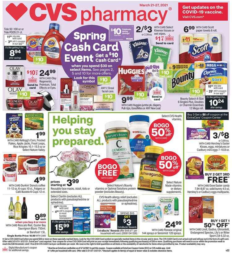 CVS Weekly Ad (3/21/21 - 3/27/21) Preview