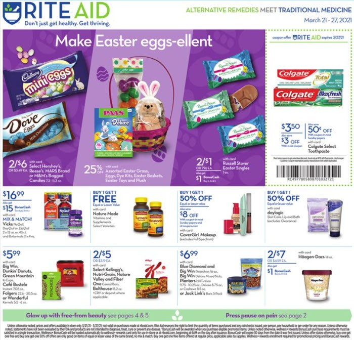 Rite Aid Weekly Ad (3/21/21 - 3/27/21) Preview