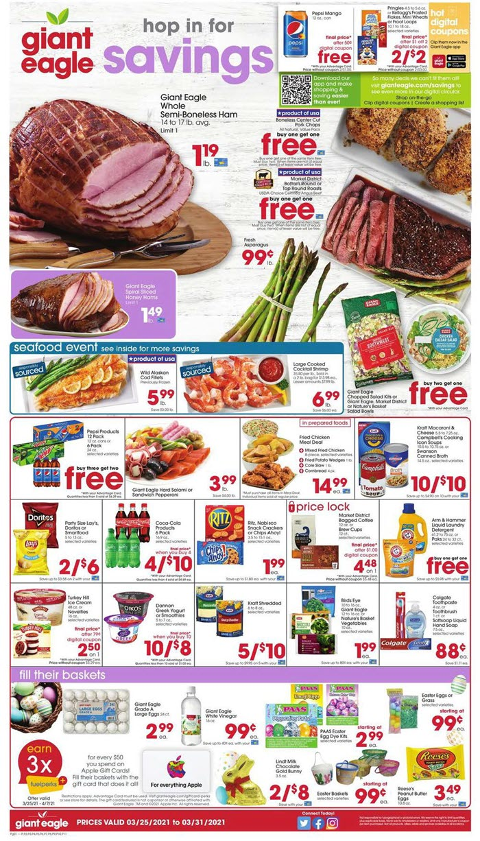Giant Eagle Weekly Ad (3/25/21 - 3/31/21) Preview