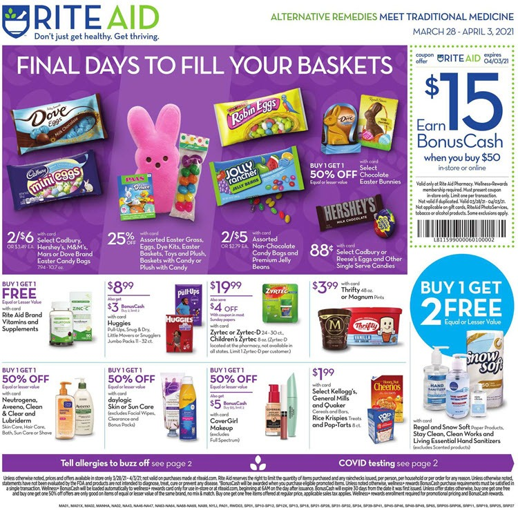 Rite Aid Weekly Ad (3/28/21 - 4/3/21) Preview