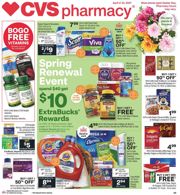 CVS Weekly Ad (4/4/21 - 4/10/21) Preview