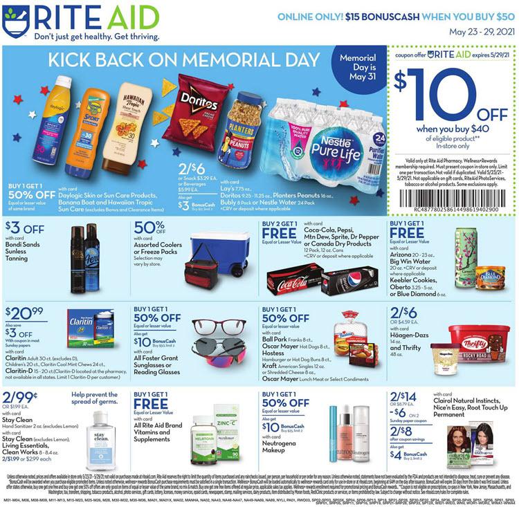 Rite Aid Ad (5/23/21 - 5/29/21) Preview