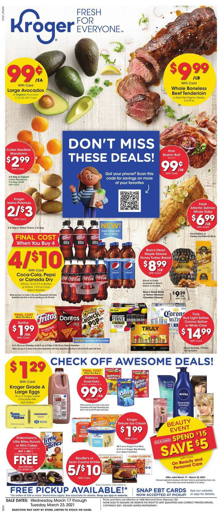 Kroger Weekly Ad (3/17/21 - 3/23/21) Preview