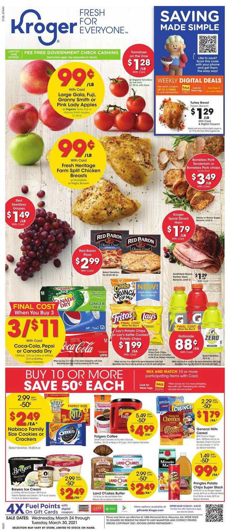 Kroger Weekly Ad (3/24/21 - 3/30/21) Preview